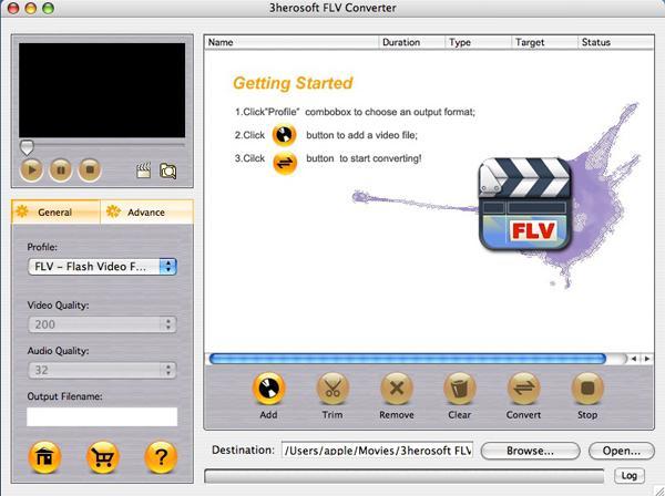 3herosoft FLV Converter for Mac 3.6.2.1123
