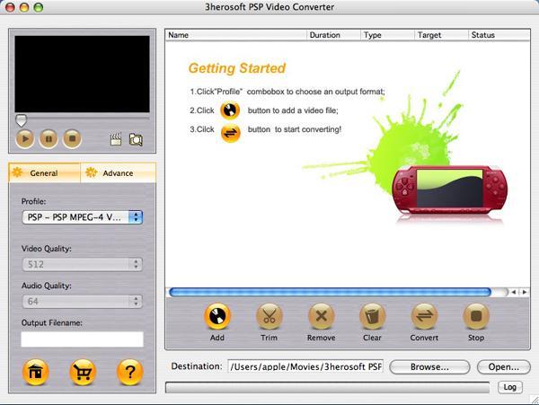3herosoft PSP Video Converter for Mac 3.6.2.1122
